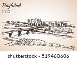baghdad cityscape   iraq.... | Shutterstock .eps vector #519460606