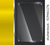 elegant vector yellow metallic... | Shutterstock .eps vector #519461176