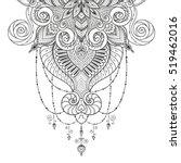 asian ethnic floral retro... | Shutterstock .eps vector #519462016