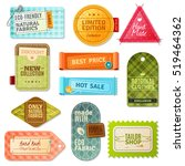 colorful handmade fabric label... | Shutterstock . vector #519464362