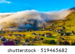 rural landscape with fog in...   Shutterstock . vector #519465682