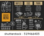 breakfast menu placemat food... | Shutterstock .eps vector #519466405
