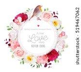 elegant floral vector round... | Shutterstock .eps vector #519467062