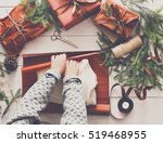 gift wrapping background.... | Shutterstock . vector #519468955