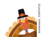 Pilgrim Turkey Bird Cartoon...