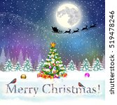 meryy christmas and happy new... | Shutterstock .eps vector #519478246