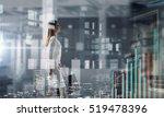 businesswoman in modern office. ... | Shutterstock . vector #519478396