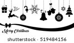 set of christmas vector icons | Shutterstock .eps vector #519484156