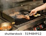 real kitchen of bar and grill... | Shutterstock . vector #519484912