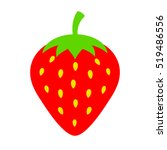 strawberry vector icon...