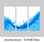 tri fold wave background ... | Shutterstock .eps vector #519487366