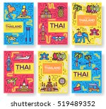 thailand thin line brochure... | Shutterstock .eps vector #519489352