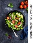 avocado  tomato and arugula... | Shutterstock . vector #519491032