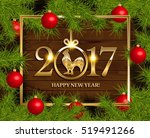 New Year Vector Background Wit...