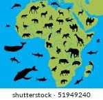 animal of africa | Shutterstock .eps vector #51949240