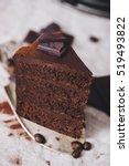 slice of a handmade chocolate... | Shutterstock . vector #519493822