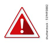 exclamation danger sign | Shutterstock .eps vector #519493882