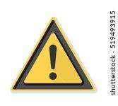 exclamation danger sign | Shutterstock .eps vector #519493915