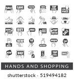 hands holding messages. hand... | Shutterstock .eps vector #519494182