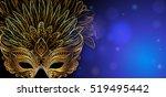 vector illustration. golden... | Shutterstock .eps vector #519495442