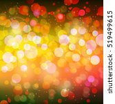 abstract bokeh colorful glowing ... | Shutterstock .eps vector #519499615