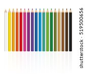 crayons   colorful set  with... | Shutterstock .eps vector #519500656