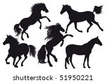 silhouettes of horse | Shutterstock .eps vector #51950221