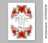poinsettia wedding invitation... | Shutterstock .eps vector #519503656