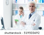 professional doctor with his... | Shutterstock . vector #519503692