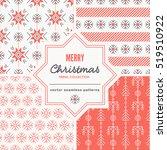 set of christmas seamless... | Shutterstock .eps vector #519510922