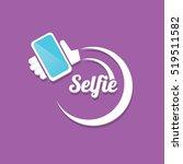 taking selfie photo on smart...   Shutterstock .eps vector #519511582