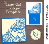 lasercut vector wedding... | Shutterstock .eps vector #519512602