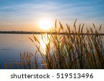 Sunset Landscape Scene With...
