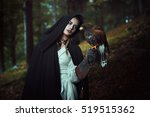 Black Hooded Woman With Harris...