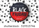 black friday sale inscription... | Shutterstock .eps vector #519515746