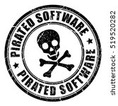 Pirated Software Rubber Stamp...