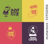 merry christmas and happy new... | Shutterstock .eps vector #519520306