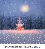 scenic night in the ukrainian... | Shutterstock . vector #519521572