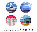 air logistics and freight...   Shutterstock .eps vector #519521812