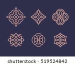 logos templates for textile... | Shutterstock .eps vector #519524842