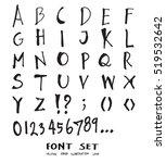 hand drawn alphabet letters... | Shutterstock .eps vector #519532642