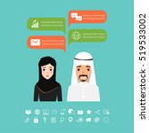 business arab woman and arab... | Shutterstock .eps vector #519533002