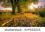 Graveyard At Autumn Sunset