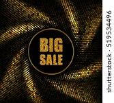 big sale banner. swirl effect.... | Shutterstock .eps vector #519534496