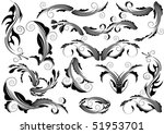 floral design elements | Shutterstock .eps vector #51953701