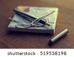 old diary memories with... | Shutterstock . vector #519538198