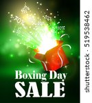boxing day background with open ... | Shutterstock .eps vector #519538462