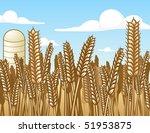 wheat field   vector...   Shutterstock .eps vector #51953875
