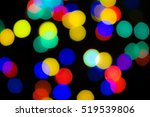 abstract blurred garland lights.... | Shutterstock . vector #519539806