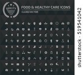 food and healthy care icon set ... | Shutterstock .eps vector #519541042
